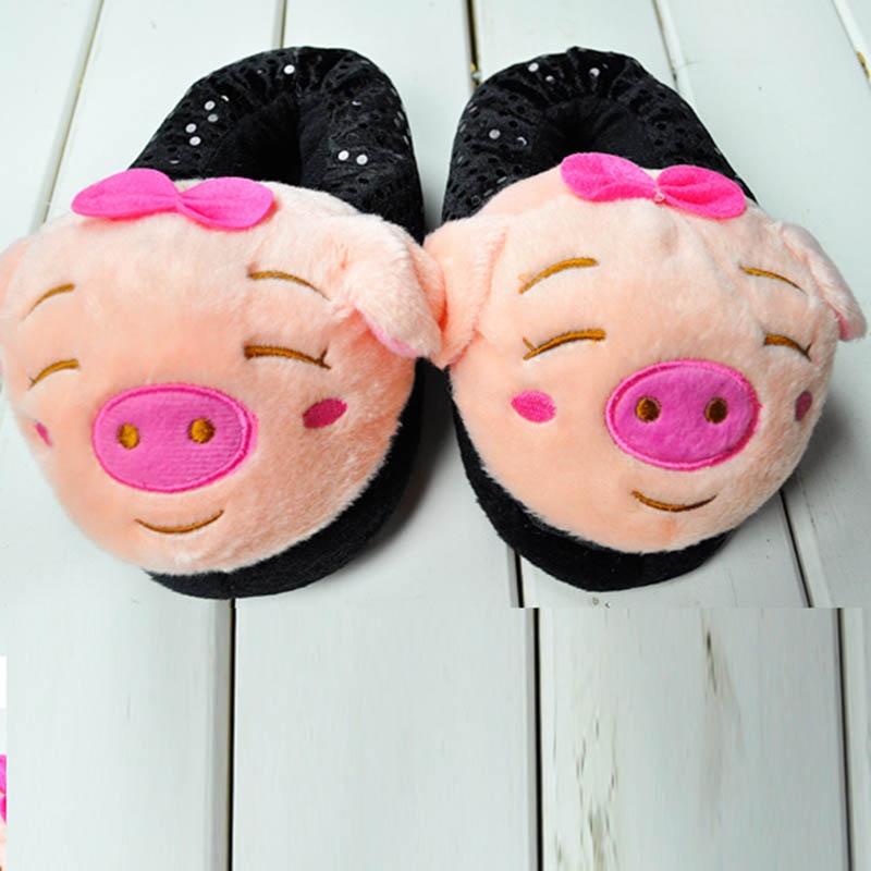 棒针织拖鞋小猪花样图