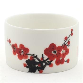 手绘上色青花五彩 直口陶瓷品茗茶杯