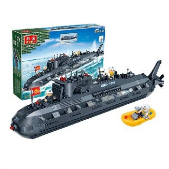 乐高式拼装积木益智拼插玩具潜水艇