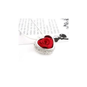 创意时尚 花语花意心之玫瑰链长项链zxq图片