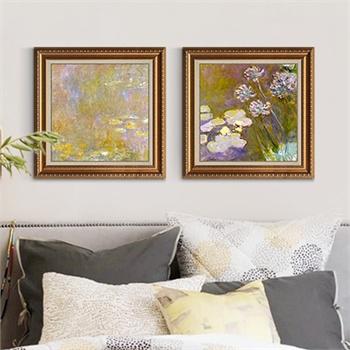 积累小家客厅装饰画欧式风景有框画现代油画壁画卧室