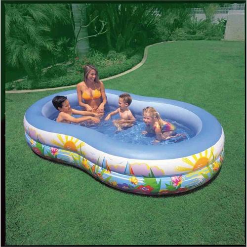 intex家庭充气水池56490八字型折叠游泳池儿童戏水池海洋球池