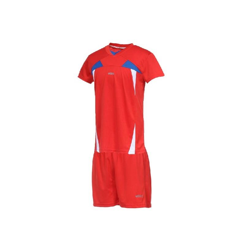 etto英途 男款排球服 短袖排球服训练队服 套装 排球比赛服_红色,l