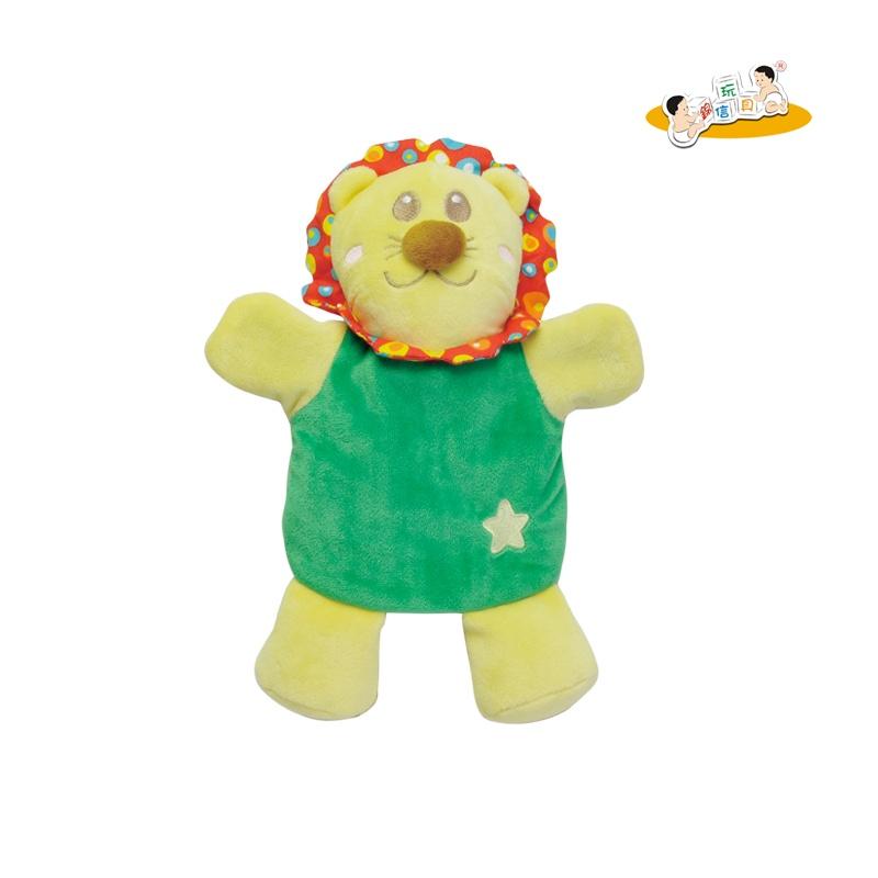 锦信 正品婴儿小狮子小兔动物手偶玩具 新生儿宝宝安抚巾玩偶玩具