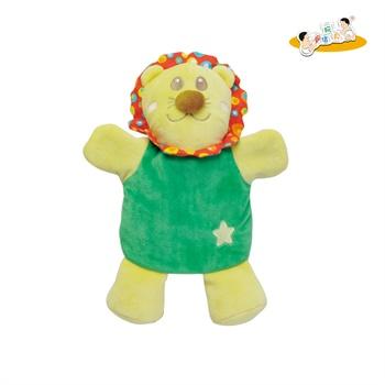 锦信 正品婴儿小狮子小兔动物手偶玩具 新生儿宝宝安抚巾玩偶玩具 _小