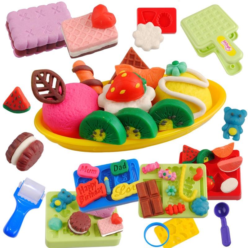 多多乐蛋糕点心自助餐 3d彩泥 模具工具套装无毒橡皮泥 儿童玩具