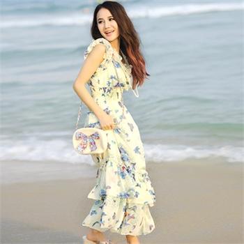 夏季裙装美女图片
