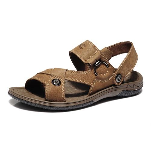 德国骆驼动感camelactive夏季新品休闲凉鞋套脚搭扣真皮沙滩鞋英伦风男鞋6A839