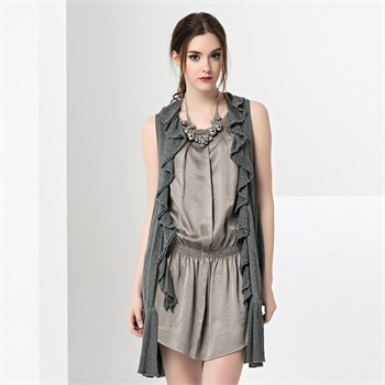 su 玛丝菲尔素品牌女装 2014秋季新款甜美荷叶
