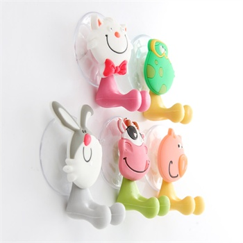 创意可爱卡通动物家族强力吸盘牙膏牙刷架款式