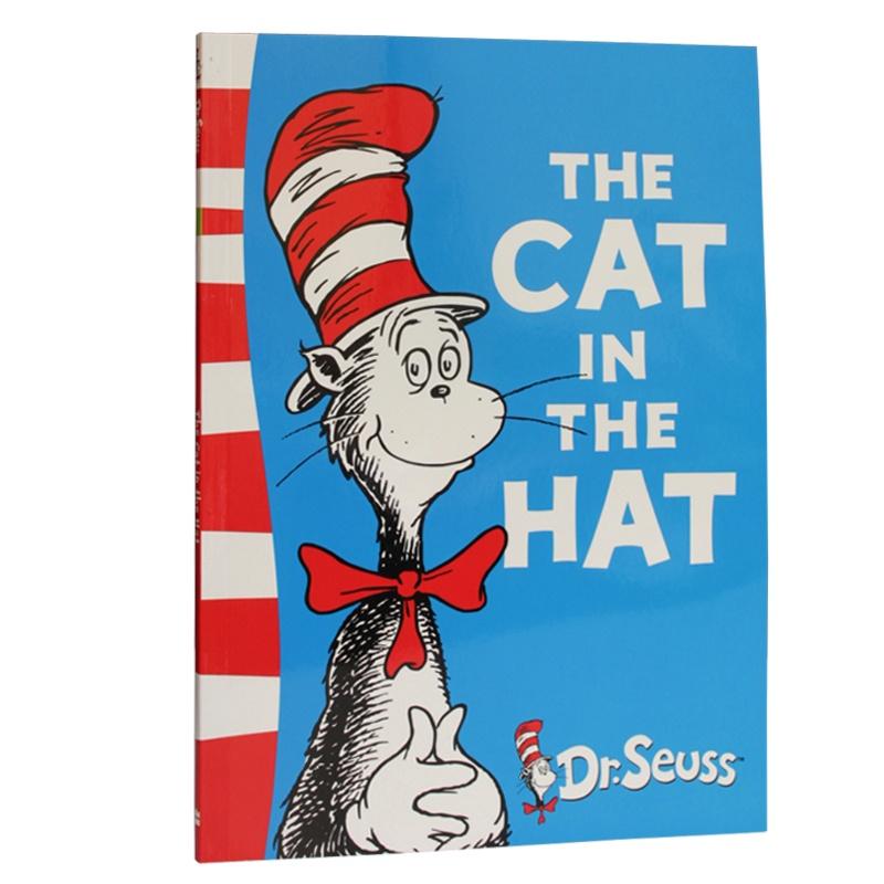 the cat in the hat 戴帽子的猫 dr seuss苏斯博士绿色系列 美国top
