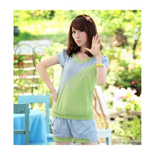 夏装新款少女装中学生夏装女生衣服休闲套装韩版姐妹装图片