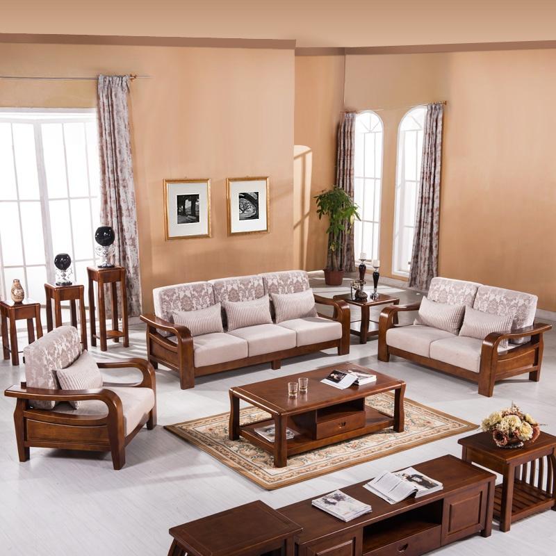00 岭林 全实木沙发床 推拉 902中式客厅家具 懒人 2569.