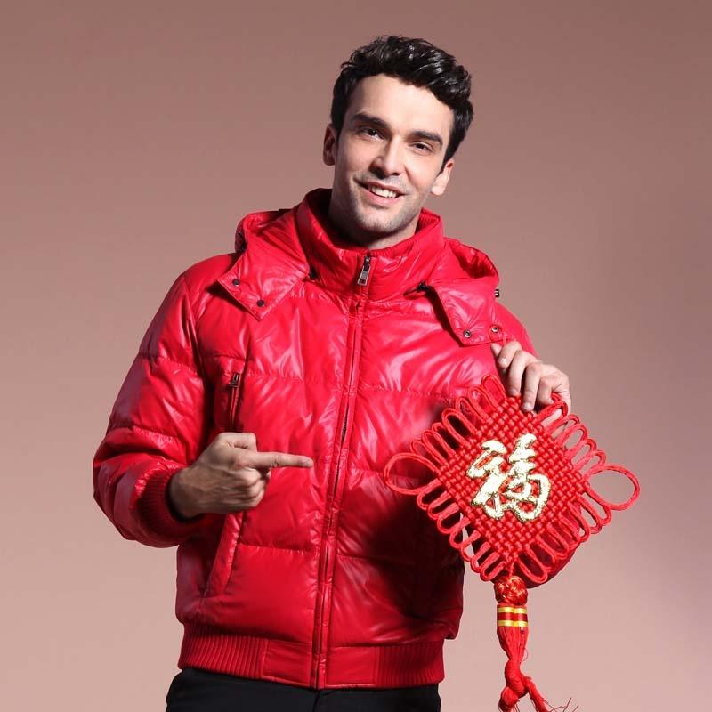 秋装冬装外套棉服羽绒服男士短款夹克款显身材束腰可拆卸针织领 11015