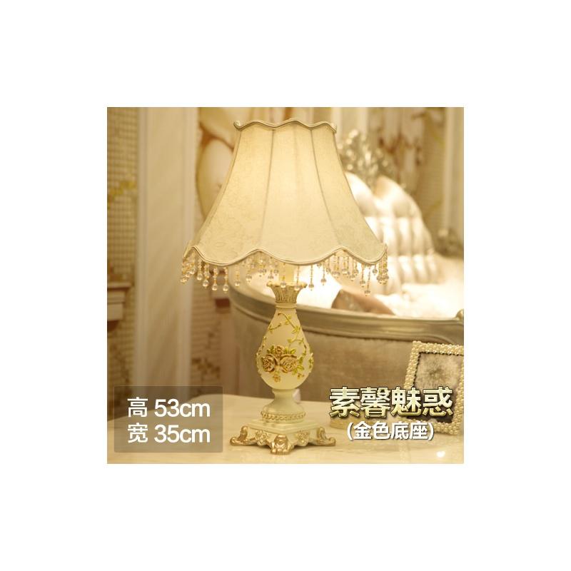 欧式田园创意蕾丝卧室床头台灯