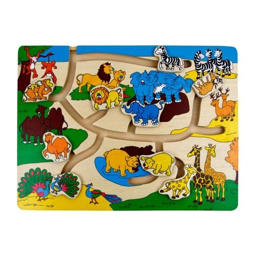 智立方 立体滑道拼图 野生动物轨道乐园手工制作/宝宝必备