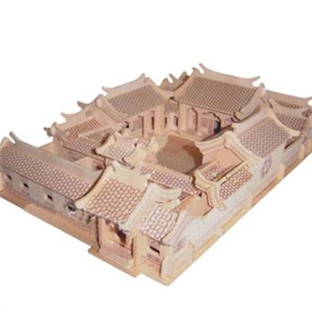 拼图古建筑四合院大教堂天坛积木拼装拼插组装模型