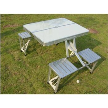 供应铝合金折叠桌椅户外折叠桌图片