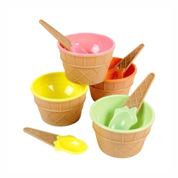 大贸商 雪糕碗 带勺子 冰淇淋杯