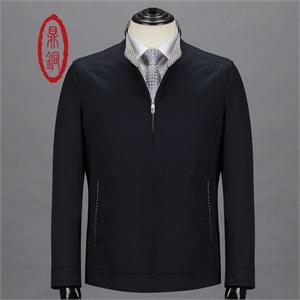 鼎铜 高品质时尚立领商务休闲外套   精致修身浅卡其色外套男透气纯棉夹克58619-1