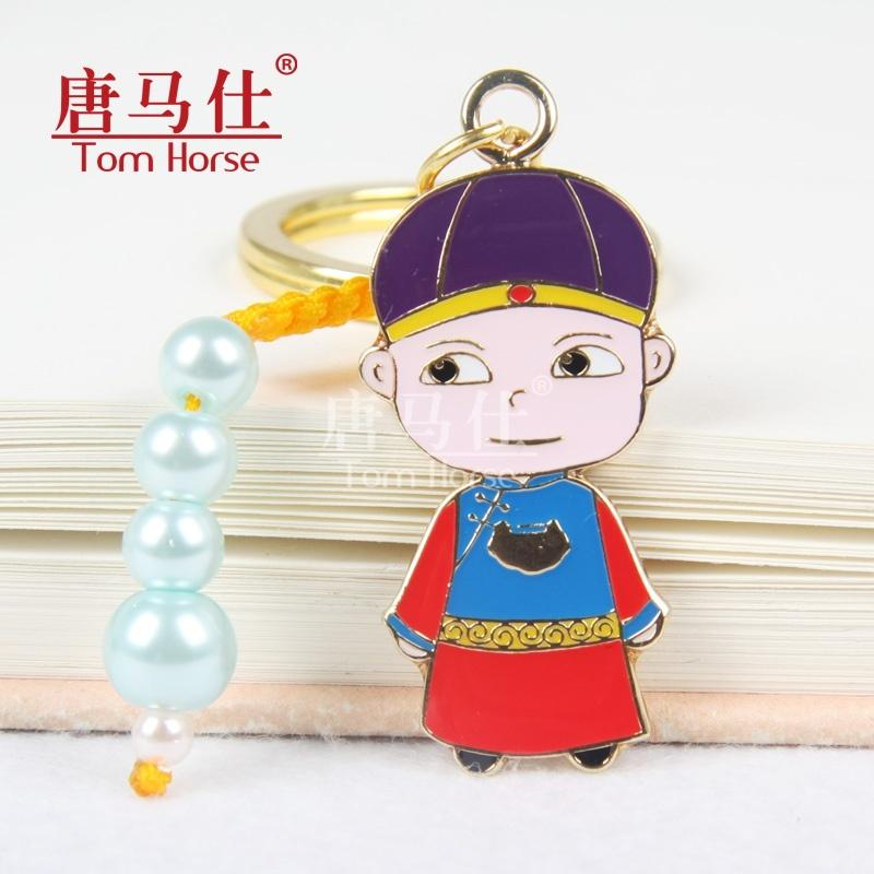 景泰蓝福娃钥匙扣 可爱创意礼物 中国特色小礼品 出国留学送老外 商