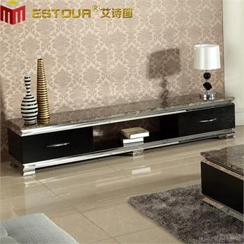 艾诗图 现代客厅电视柜 烤漆 大理石 不锈钢 奢华大气