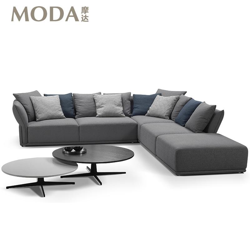 摩达moda 现代简约布艺沙发 意大利北欧米兰 羽绒沙发 正品斯可馨锐驰