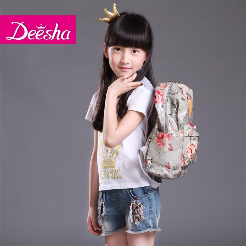deesha笛莎2015新款女儿童韩版夏装时尚个性牛仔短裤413508