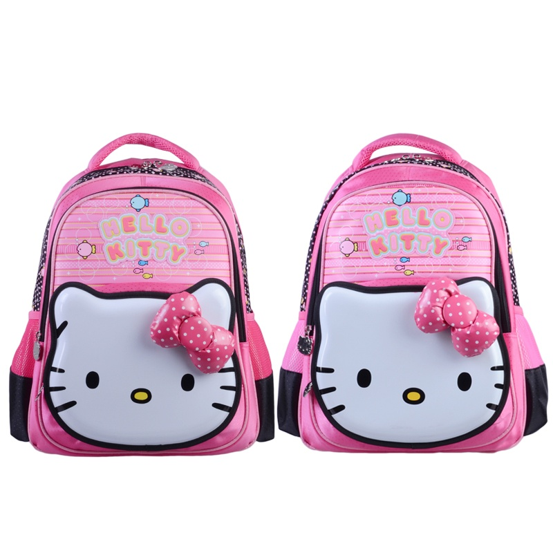 富乐梦 hello kitty凯蒂猫 儿童书包-桃红色/粉色