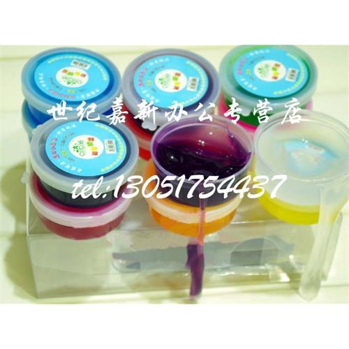 儿童节礼物12色荧光3d水晶彩泥/仿真果酱/水晶泥 diy材料 粘土 12色水