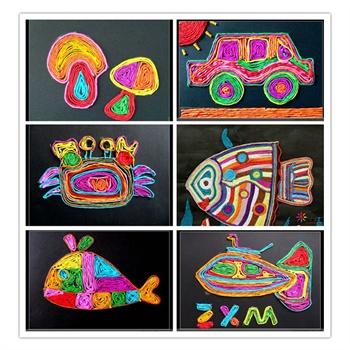 50米彩色纸绳粘贴画手工diy材料编织幼儿园儿童创意
