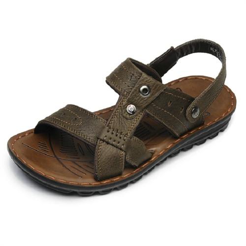 德国骆驼动感Camel Active夏季新款凉鞋搭扣露趾头层牛皮英伦风沙滩鞋透气男鞋 BL7203-11