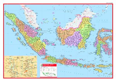 世界分国地图--印度尼西亚 东帝汶 周敏 9787503162541 中国地图出版