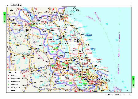 中国分省系列地图册 江苏省地图册