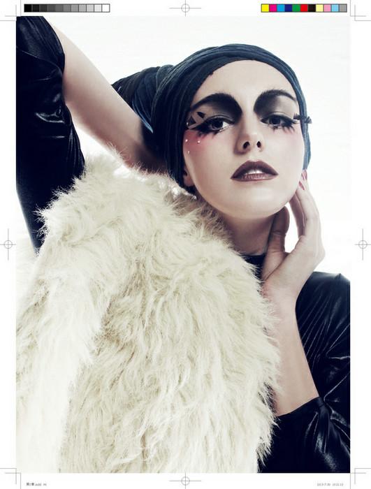 创意欧式妆面造型图片