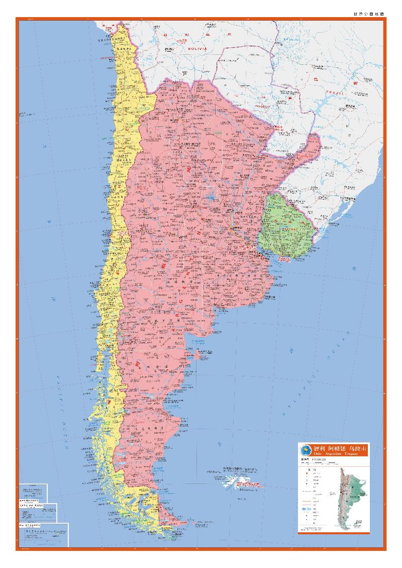 阿根廷旅游地图