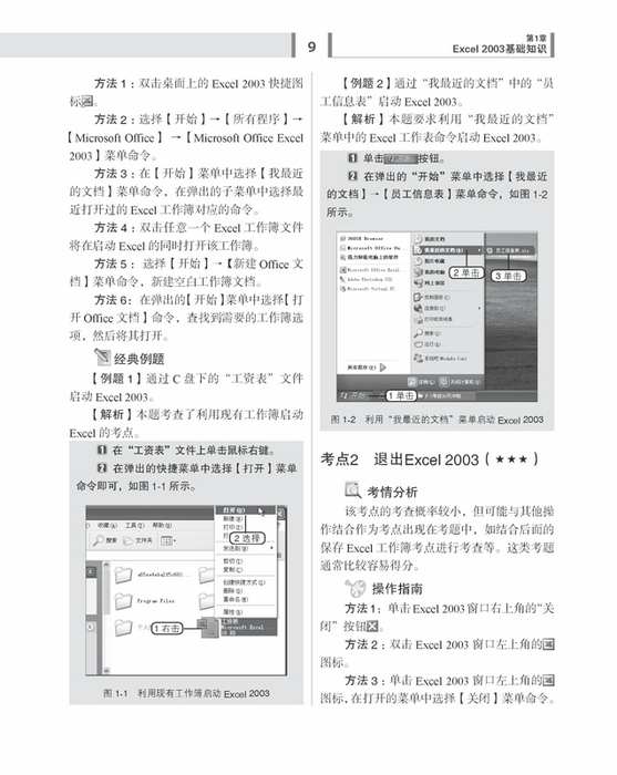 2003中文电子表格-全国职称计算机考试讲义