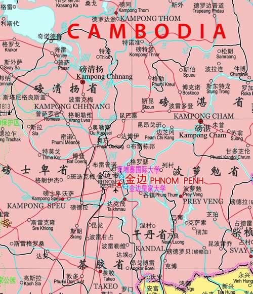 世界热点国家地图·越南