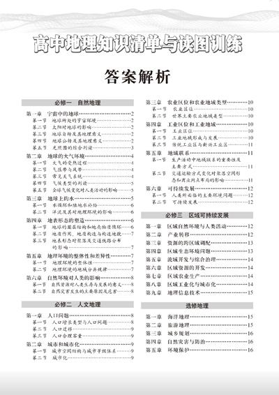 2015-高中地理知识清单与读图训练 王民,高秀洲 9787503181771