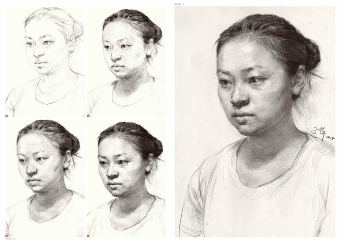 【th】于萍素描教学08--素描头像临摹 于萍著 湖北美术出版社