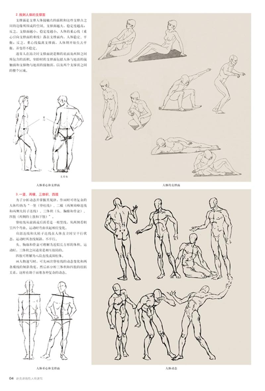 速写各个主要部位的绘画技巧和表现手法,同时配合数十幅范画分步骤