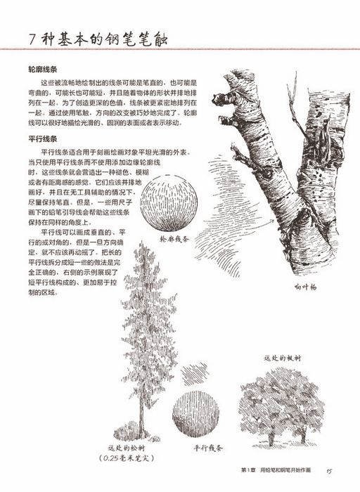 【th】风景之美:树木绘制方法全集 (美)尼斯著,欧阳宇 人民邮电出版社