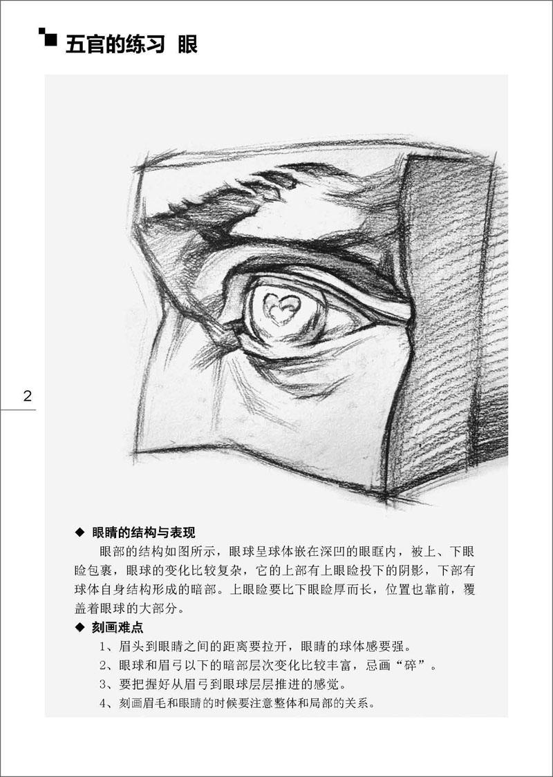 美术基础教程-石膏头像 艺术素描入门必备专业用书