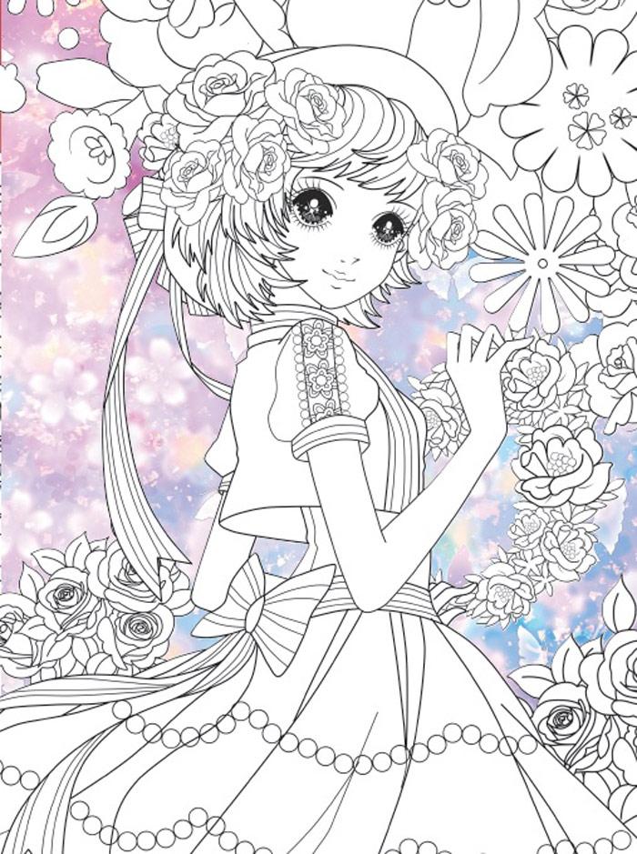 美丽简单的公主怎么画