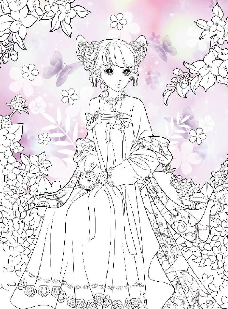 儿童画简笔画小公主-小公主礼服 仙子图片