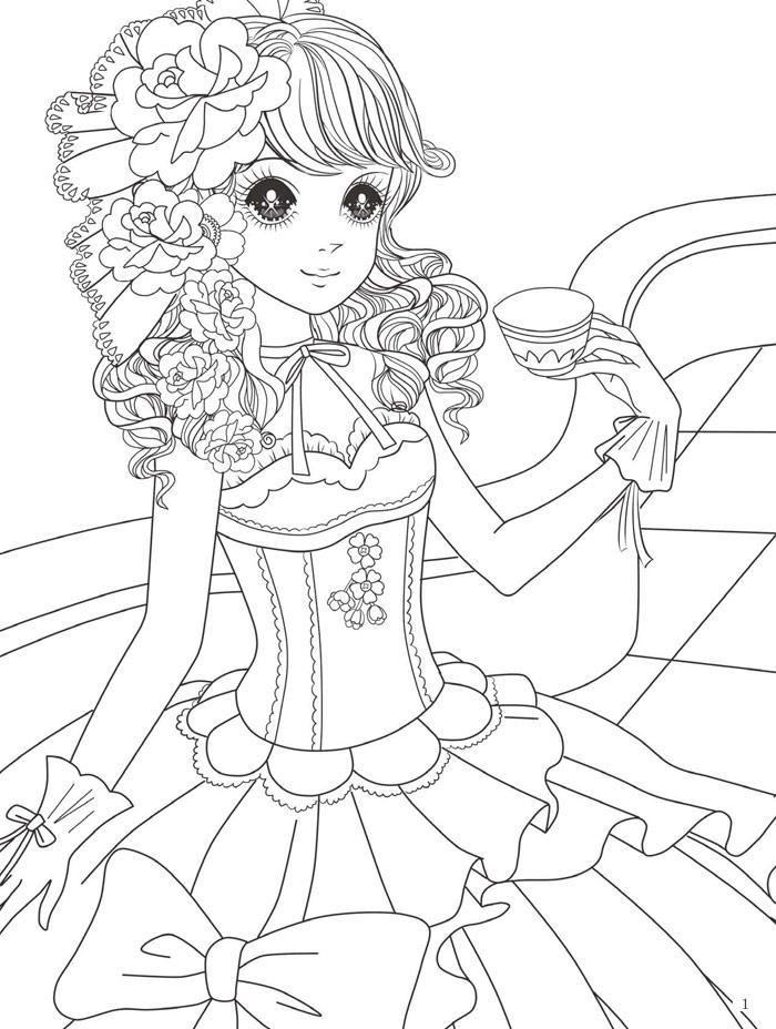 美丽优雅的公主造型,让孩子们在涂色的过程中,还能感受到线条画的魅力
