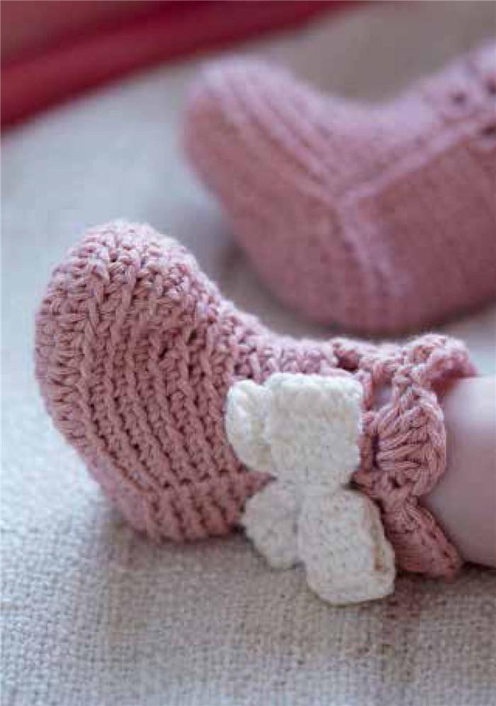 怎样钩织婴儿鞋图片