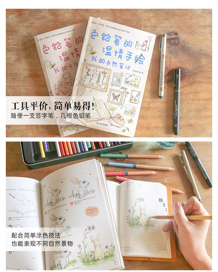 色铅笔的温情手绘,我的自然笔记