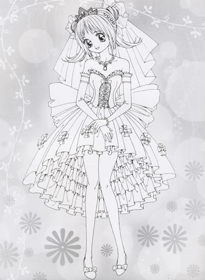 靓丽新娘美少女填色超级版