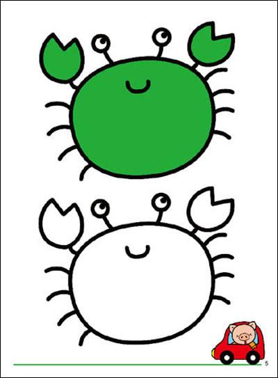儿童涂色图片打印